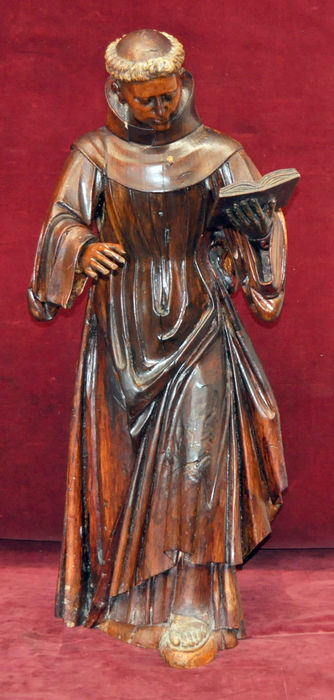 Masterful image in carved wood - Franciscan - 18th century
