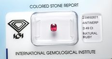 Ruby - 0.49 ct