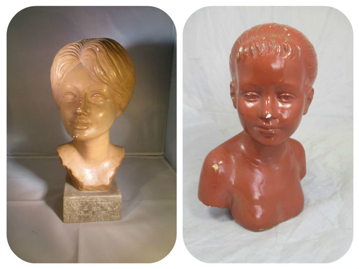 Two busts signed G.Carl, - first half 20th century