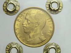 Italy, Kingdom, 1933 (11th Year of Fascist Era)—50 Lire gold coin Victor Emmanuel III