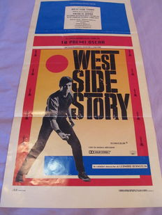 West Side Story - Original Italian movie poster - later date after 1974 - Fin XXème - 30x70cm