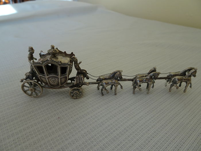 Silver miniature of the golden carriage, Netherlands, 20th century