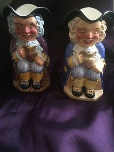 Rare pair of large Clarice Cliff 'Toby' jugs