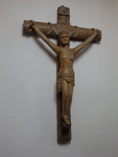Huge Crucifix in wood - Spain - 19th century