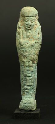 Egyptian faience Ushabti for Tefnakht - 103 mm