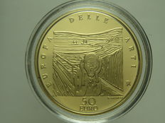 Republic of Italy – 50 Euro, 2007 'Europa delle Arti – Norvegia'/'Europe of Arts – Norway' – Gold