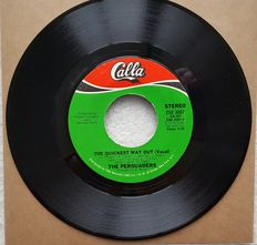 Lot of 34 vinyl Soul singles with special item: rare American Calla pressing The Persuaders
