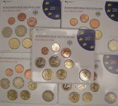 "Germany – Year pack 2010 A, D, F, G, J, including 2 Euro coin ""Bremer Rathaus"""