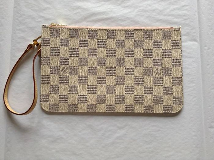 f527595b27bb Louis Vuitton – Damier Azur clutch bag – with leather wrist strap ...
