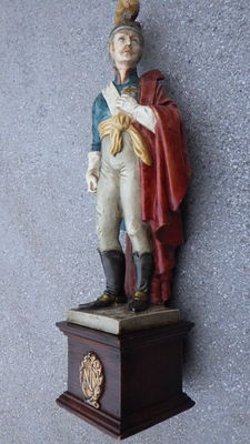 Soldier Napoleon - polychrome porcelain figure Early 20th century