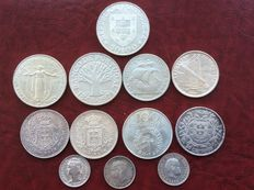 Portugal – Lot of 12 silver coins.