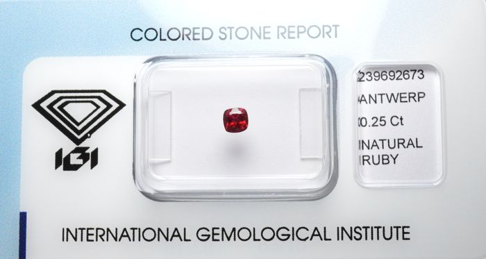 Fine colour ruby - 0.25 ct