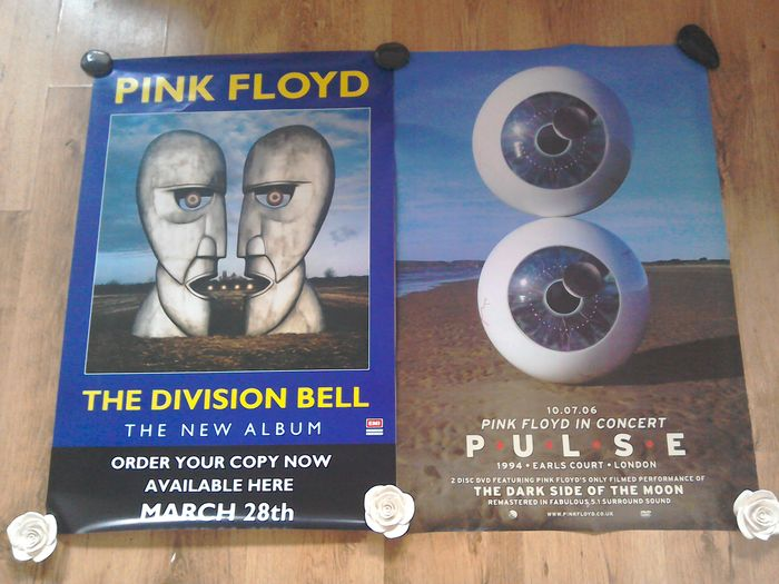 Pink Floyd Original Promo Posters X2 The Division Bell & PULSE .