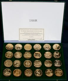 France - 20th century - Medals 'Imperial Collection' - Set of 24 Medals - Golden Bronze