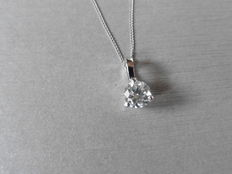 950 Platinum diamond pendant and gold necklace - 1ct - 16 inches ***No Reserve***