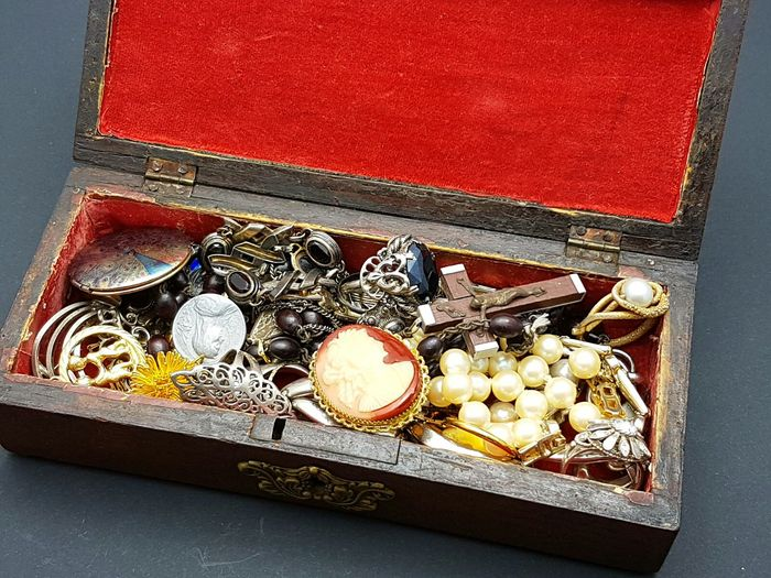 Jewel box - filled with jewelry