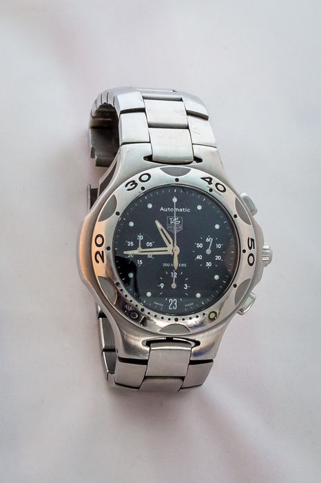 Tag heuer kirium chronograph diver 39 s watch 2003 2004 catawiki for Tag heuer divers watch