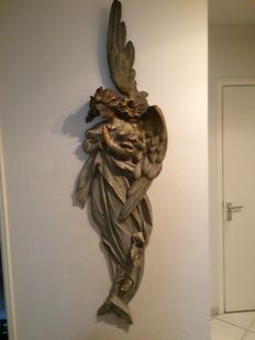 Beautiful original wooden Angel from South Germany