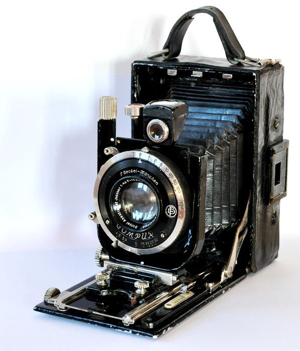 Original old rare vintage folding camera, Germany, 1933.