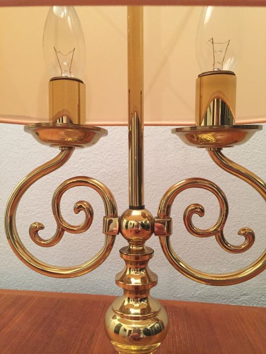 original library lamp from 1960 brass rare banker lamp catawiki. Black Bedroom Furniture Sets. Home Design Ideas