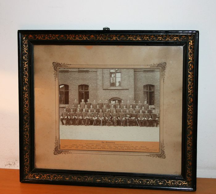 Original Photo In Glass Frame In Remembrance Of The Training Group