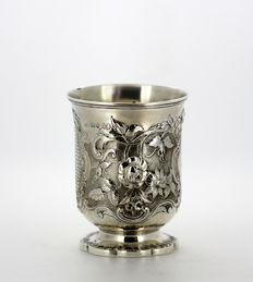 Silver wine goblet/beaker, John Eldershaw Brunt, London, 1861