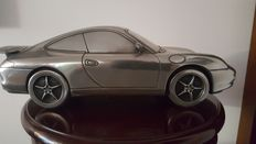 Big scale Porsche 996 - 44 cm long - pewter and resin