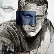 "Steve McQueen ""Blue Eyes"" - Artist: Natacha Toutain"