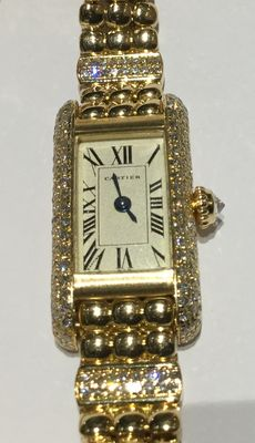 Cartier—Tank Allongée—women's wristwatch—1990s