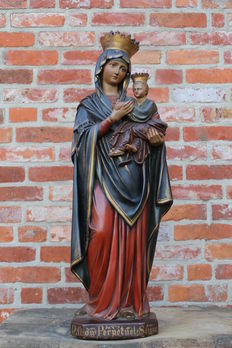Monastery well-great statue of OUR LADY perpetual help