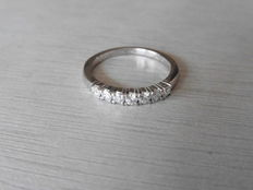 18k Gold Diamond Band Ring- 0.35ct I, SI2 - size 54