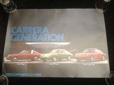 Porsche Carrera originele Dealer Poster 'Generations' - 59.5 x 42 cm