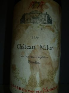 1959 Chateau Milon, Cru Bourgeois Superieur Pauillac – 1 bottle