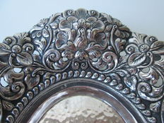 Silver chocolates tray, Djokja, Former Dutch East Indies, early 20th century