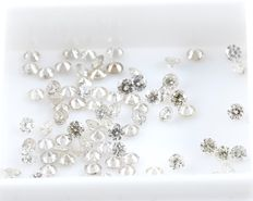 100 Round Brilliant Diamonds – 2.57 ct.