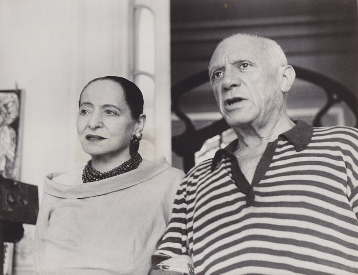 02dc190f2e1 Unknown - Helena Rubinstein and Pablo Picasso - Cannes - 1956 ...