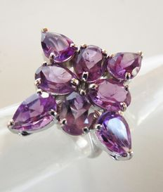925 Silver ring with amethyst