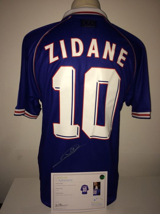low priced 46fb1 88bdb Zinedine Zidane / France WC 1998 - Zinedine Zidane Signed France World Cup  1998 Shirt + Luxury Cover + COA Exclusive Memorabilia inc. Photoproof. - ...