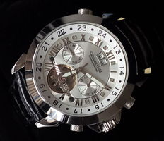 Calvaneo 1583 Astonia Silver Diamond Steel - men's wristwatch