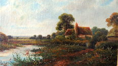 E. Cole jr. (19th/20th century) - Landschap