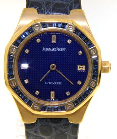 Audemars Piguet - Royal Oak set with sappires - wristwatch - nr 1028