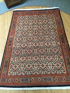 Beautiful, finely knotted Persian Moud-Herati rug with vegetable dye colours – Persia – approx. 100 x 150 – as good as new