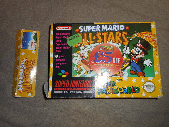 Nintendo Snes incl 1 boxed game Super Mario All Stars