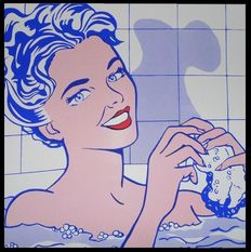 Roy Lichtenstein (after) - Woman in bath