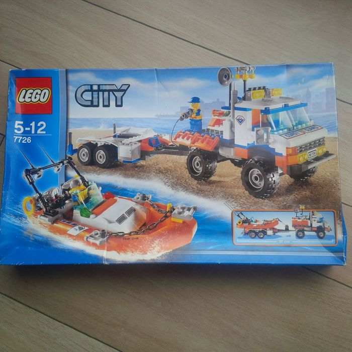 City - 7726 - Coast Guard Truck with Speed Boat