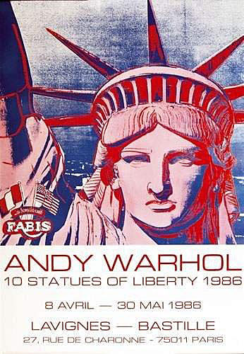 Andy Warhol - 10 Statues of Liberty - 1986 - 1980-tallet