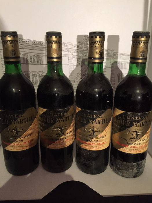 1976 chateau latour martillac grand cru classe de graves x4 bouteilles catawiki. Black Bedroom Furniture Sets. Home Design Ideas