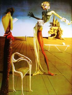 Salvador Dalí (after) - Woman with Head of Roses