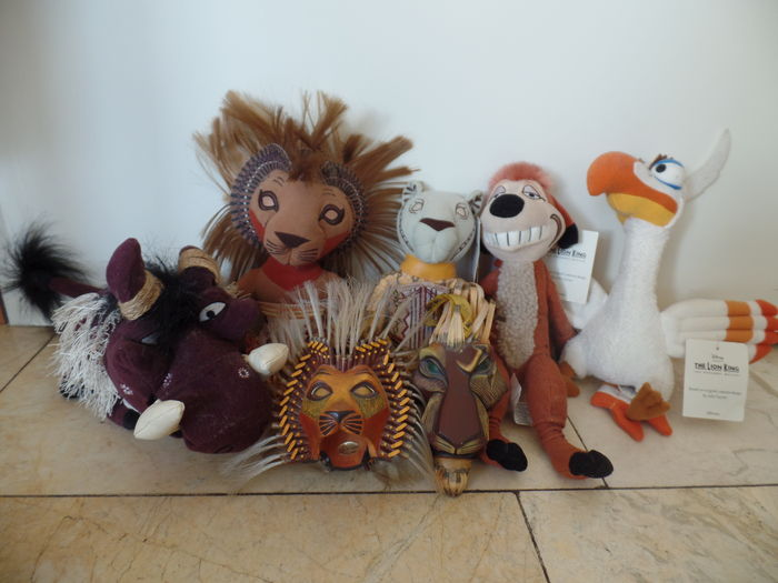 The Lion King Broadway Musical 5x Cuddly Toy And 2x