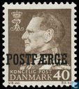 King Frederik IX with print Postfaerge